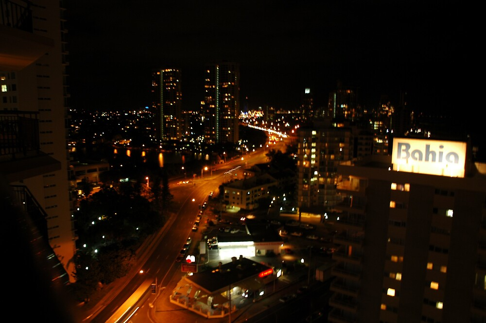 Surfers Paradise at night! by Ian McKenzie