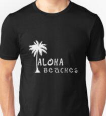 aloha beaches white lettering  T-Shirt