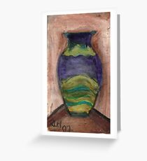 Hand-Painted Vase Greeting Card