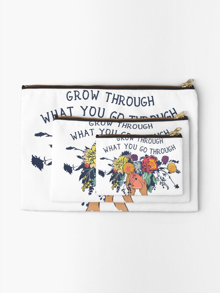 Alternate view of Grow Through What You Go Through Zipper Pouch
