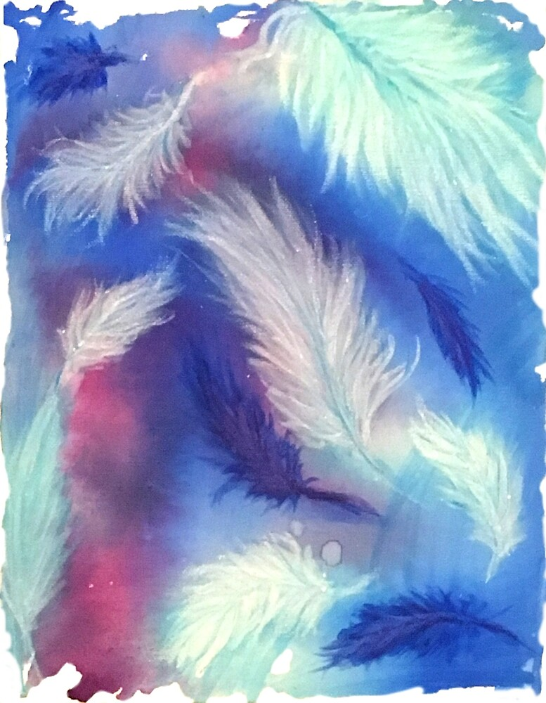 Falling Winter Feathers by PaintedPuffer