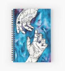 disconnected -- hands line drawing/watercolor Spiral Notebook