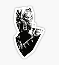Black panther - black & white Sticker