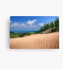 Glen Lake over the ripples of Sleeping Bear Dunes National Lakeshore, Michigan Canvas Print