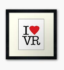 I love vr - virtual reality Framed Print