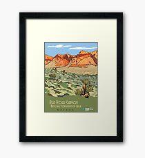 Vintage Travel Poster – Red Rock Canyon National Conservation Area Framed Print