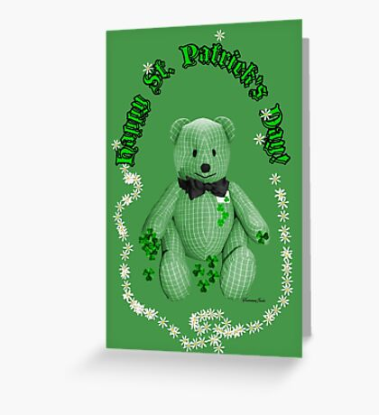 Hug This Lucky Irish Bear ♣ Greeting Card