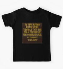 "H.P. LOVECRAFT - ""No Horror Can Be More . . . "" Kids Clothes"