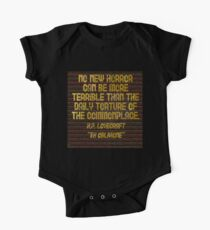 """H.P. LOVECRAFT - """"No Horror Can Be More . . . """" Kids Clothes"""