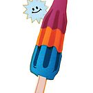 Baby Bomb Pop Linocut  by Una Scott