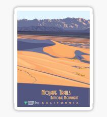 Vintage Travel Poster – Mojave Trails National Monument Sticker