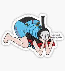 why was i born a train Sticker