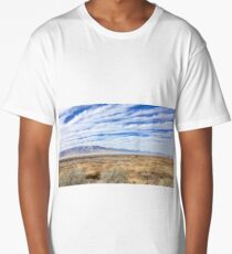 Bright Blue Sky Over Field Long T-Shirt