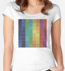 Color Grid Women's Fitted Scoop T-Shirt