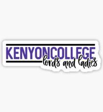 Kenyon College - Style 10 Sticker