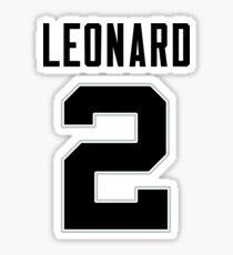 Kawhi Leonard Jersey Sticker