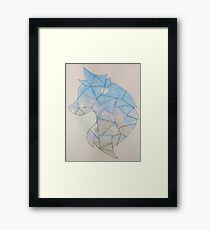 Shattered Wolf Watercolor Framed Print