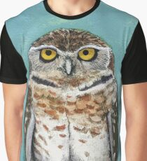 Burrowing Owl Watercolor Graphic T-Shirt