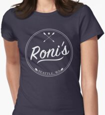 OUAT | Roni's Bar (White) Women's Fitted T-Shirt