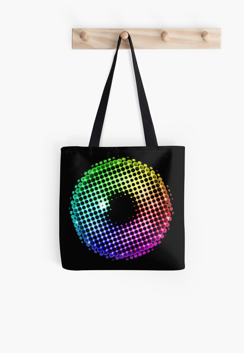 Rainbow Iris Unicorn Eye Color Spectrum Comic Laser Dragon Tote