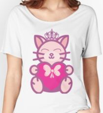 chubby valentine cat Women's Relaxed Fit T-Shirt