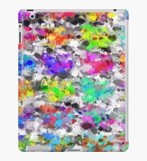 colorful psychedelic splash painting abstract texture in pink blue purple green yellow red orange iPad Case/Skin