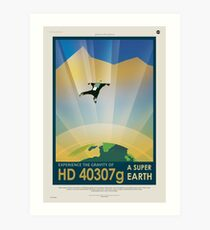Experience the Gravity of a Super Earth Art Print