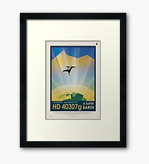 Experience the Gravity of a Super Earth Framed Print