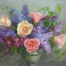 Lilac and Rose Melody by Kathy Cooper