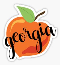 Georgia Peach Sticker