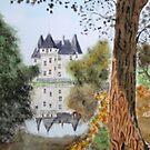 Perigord Blanc. ( Watercolour ) by Irene  Burdell