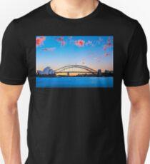 Sunset behind Opera House and Sydney Harbour Bridge T-Shirt