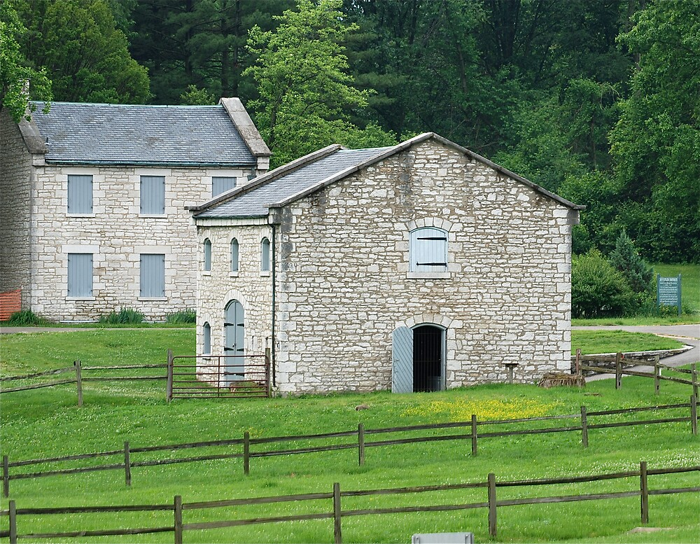 Civil War barn and small arms soldier barracks by Jim Caldwell