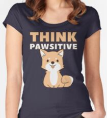 Think Pawsitive Fitted Scoop T-Shirt