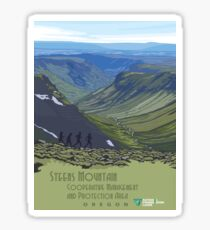 Vintage Travel Poster – Steens Mountain, Oregon Sticker