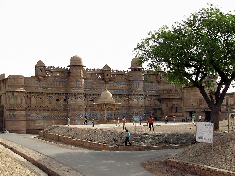 The Gwalior fort (15th century) by nisheedhi