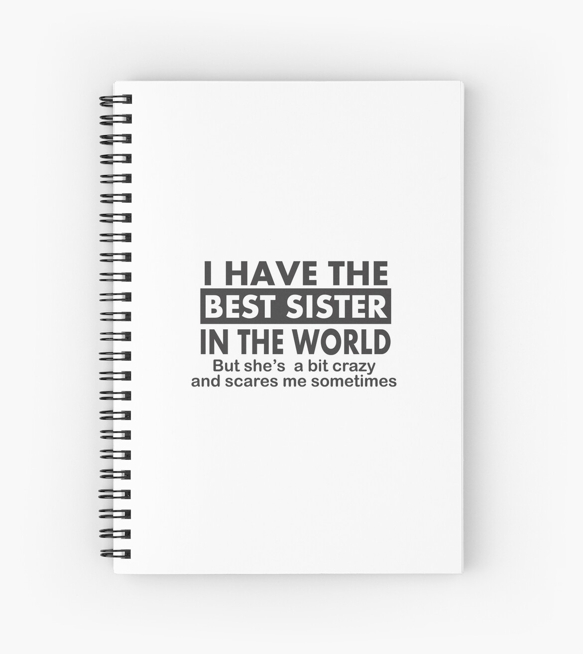 Fun Little Sister Gifts Perfect Birthday Gift For Spiral Notebook By Happygiftideas