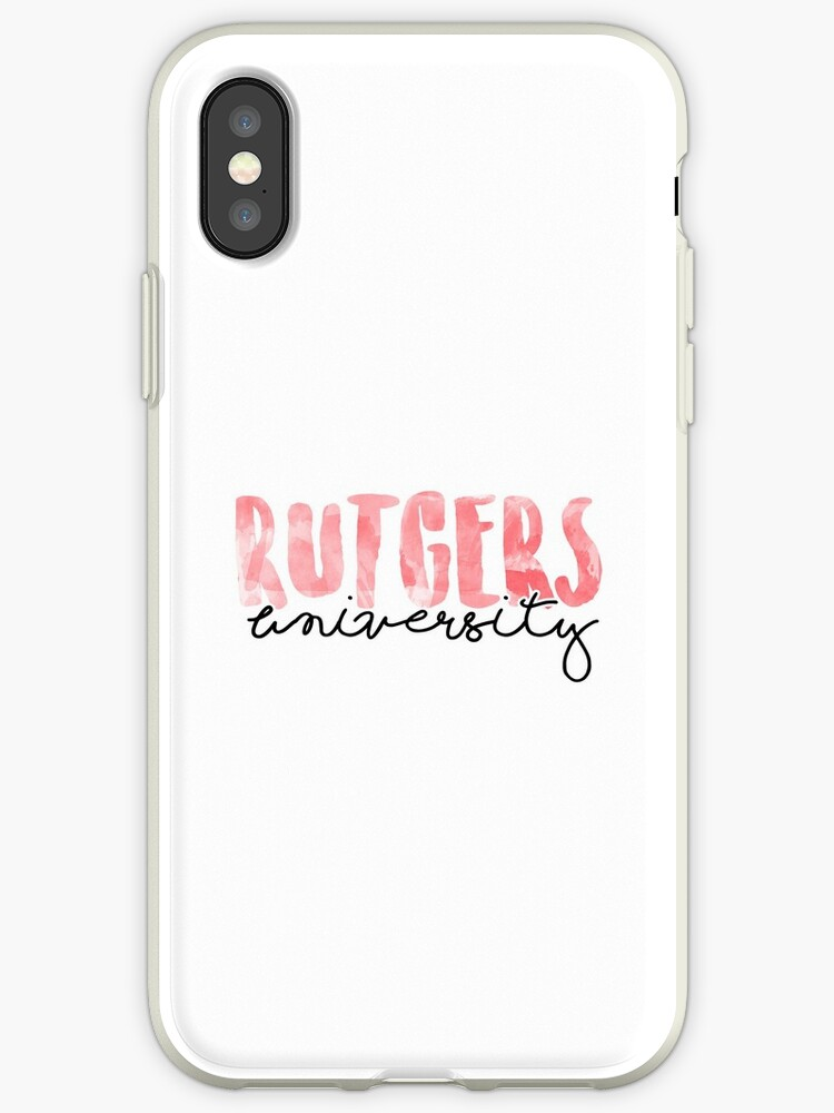 'Rutgers University' iPhone Case by Ally Gracie