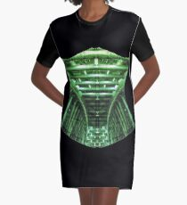 Graphic Cyber Corset Graphic T-Shirt Dress