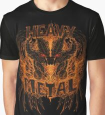 Heavy Metal Dragon Graphic T-Shirt
