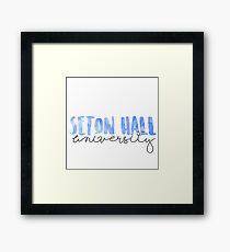 Seton Hall University Framed Print