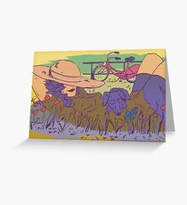 Relaxing in the sun Greeting Card