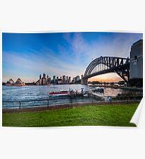 Sunset in Sydney Harbour, Australia Poster