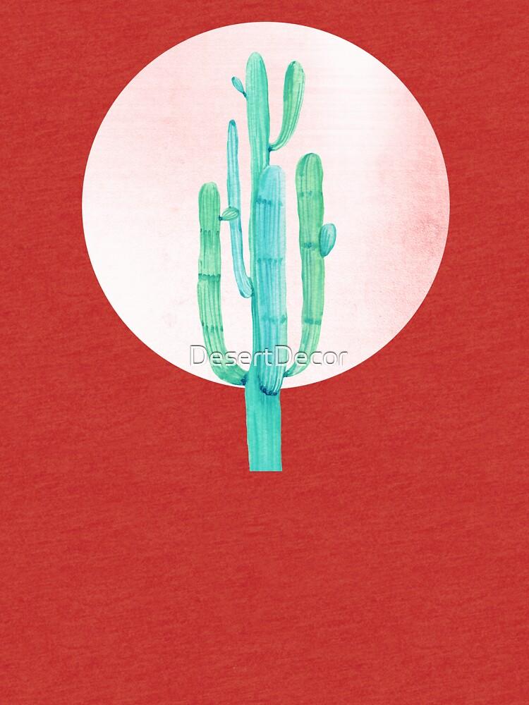 Elegante Cactus Rosegold rosa y turquesa Desert Cacti Southwest Decor de DesertDecor