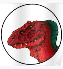 Four Eyed Dino Crest Poster
