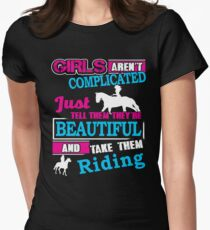 Horse Riding Girls Are Not Complicated  T-Shirt