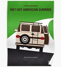 No481 - Wet Hot American Summer minimales Filmplakat Poster
