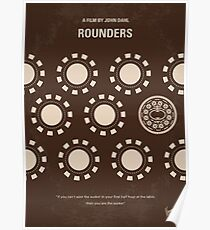 No503- Rounders minimal movie poster Poster