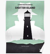 No513- Shutter Island minimal movie poster Poster