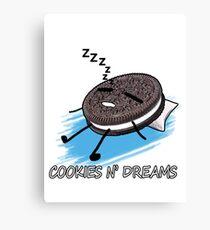 Cookies and Dreams (Sleeping Cookie) Canvas Print